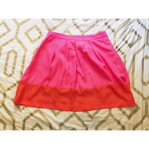 NWT JCREW Factory color block pink/orange skirt
